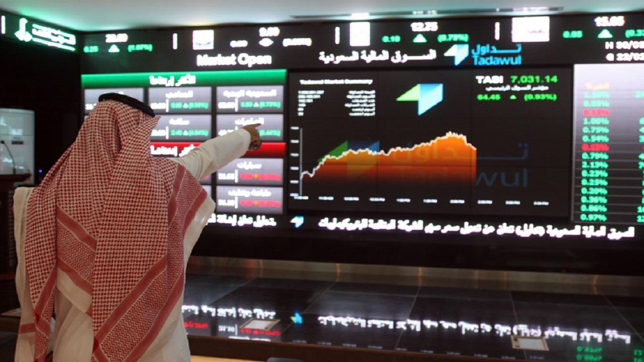 مؤشر سوق الأسهم يغلق مرتفعاً