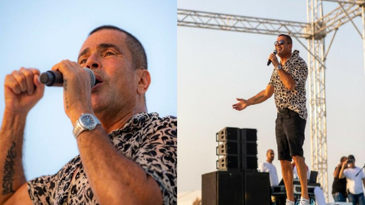 بالفيديو والصور..عمرو دياب يطرب ركاب الكروز
