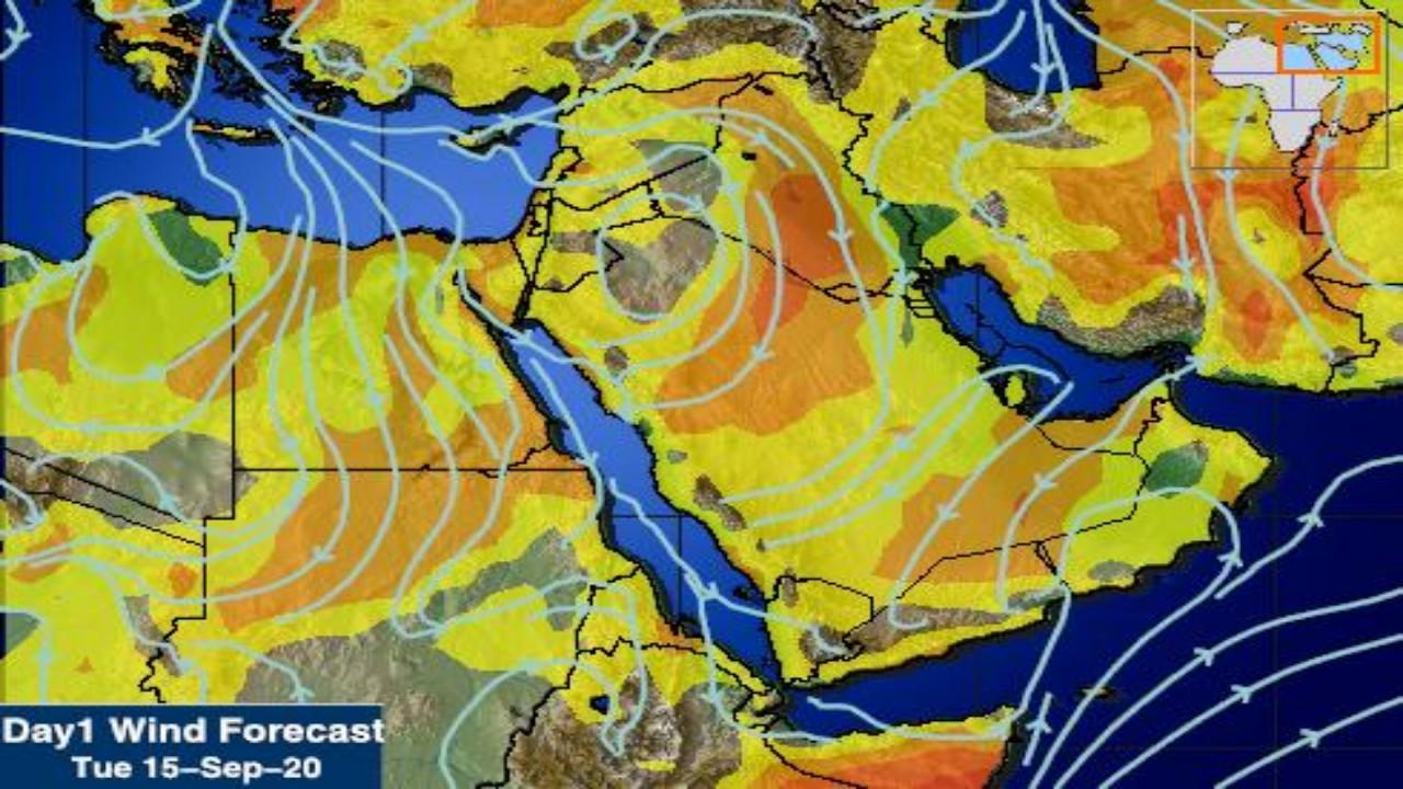 «المسند» يتوقع وجود رياح شمالية شرقية نشطة