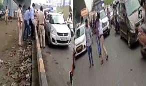 بالفيديو.. فوضى وشلل في المرور بعد ظهور ثعبان ضخم على طريق سريع