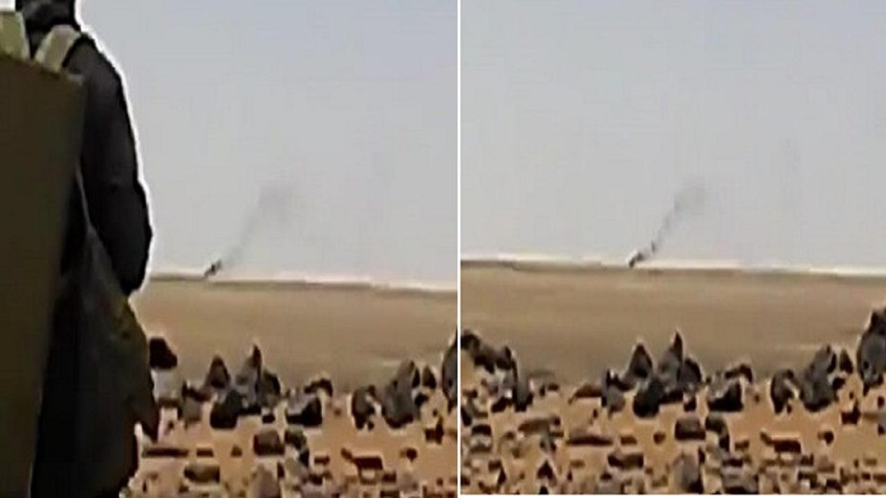 بالفيديو.. لحظة إحراق آلية عسكرية لمليشيا الحوثي بالجوف اليمنية