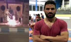 بالفيديو..لحظة تفجير المحكمة التي أعدمت المصارع الإيراني نويد أفكاري