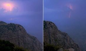 مساءات النماص الجميلة وإطلالتها البهية من خلف الجبال الشامخة