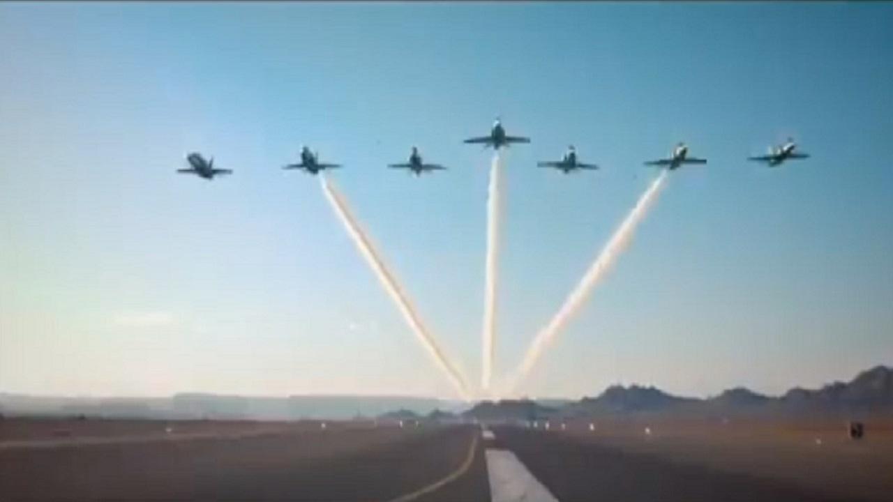 بالفيديو .. المملكة تشهد أكبر استعراض جوي في اليوم الوطني 90