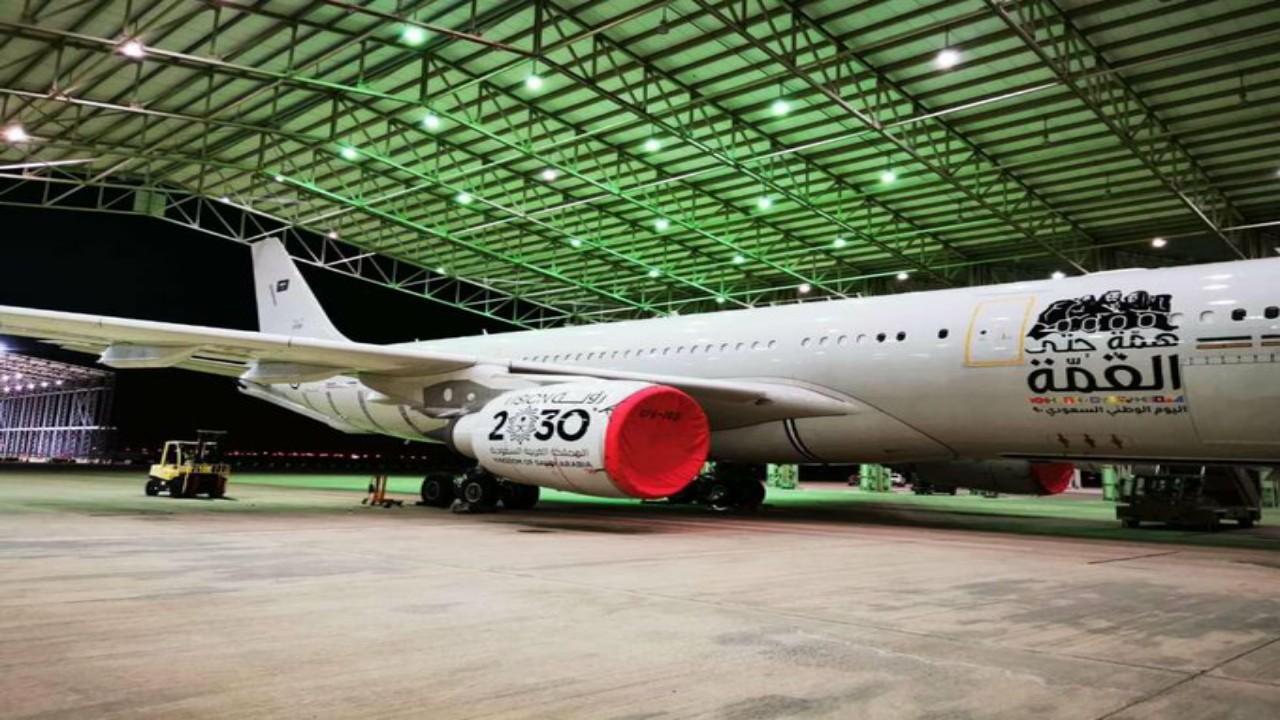 شاهد..طائرة القوات الجوية الملكية تشارك في أضخم عرض جويبسماء المملكة