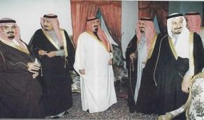 شاهد.. أبناء الملك عبدالعزيز في قصر المربع