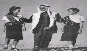 صور نادرة للكشافة النسائية بالمملكة قبل 70 عامًا