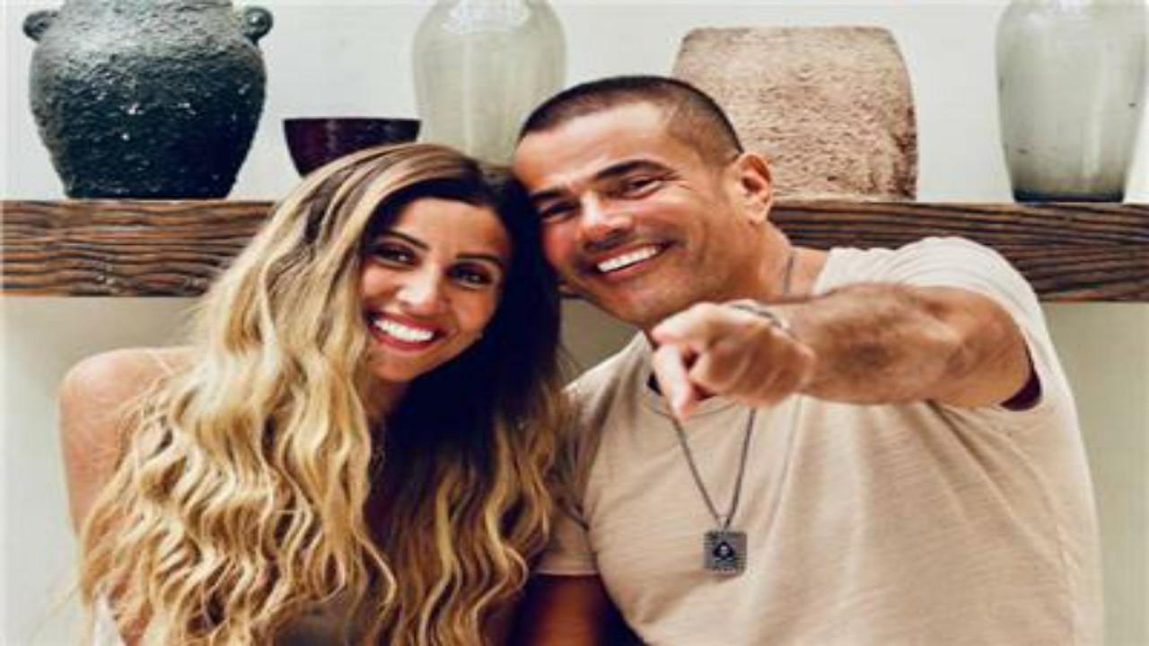"""بالفيديو.. عمرو دياب يفاجئ دينا الشربيني:"""" ورحمة أبويا بحبه """""""