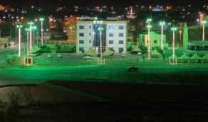 بالصور.. بحر أبو سكينة تتزين بالرايات الخضراء بمناسبة اليوم الوطني الـ90