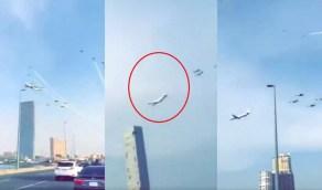 بالفيديو..ملابسات اقتراب طائرة من أحد الأبراج خلال الاستعراض الجوي بجدة