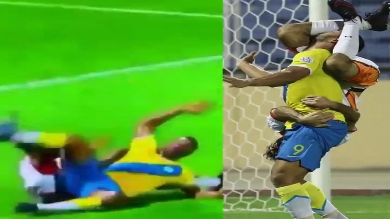 بالفيديو.. لقطة طريفة في سقوط لاعبين بإحدى مباريات دوري الدرجة الأولى