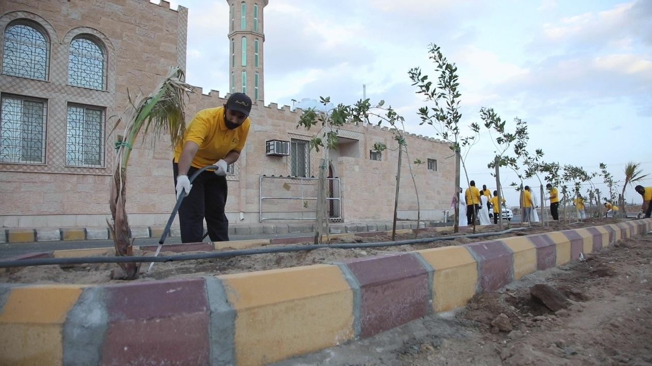 نشامى الحي بخيبر الجنوب يفعلون فرصة حفظ الطبيعة ومواردها