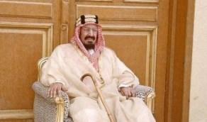 صورة نادرة للأميرة مضاوي في أحضان والدها الملك عبدالعزيز