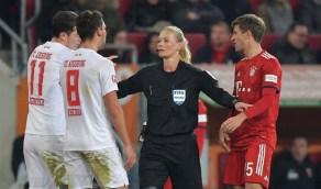إمرأة تقود مباراة السوبر الألماني بين البايرن وبروسيا  تحكيميًا لأول مرة