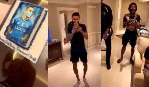 بالفيديو.. لاعبو الهلال يحتفلون بميلاد البريك من داخل الحجر الصحي