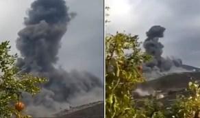 بالفيديو.. انفجار ضخم في موقع تابع لحزب الله بجنوب لبنان