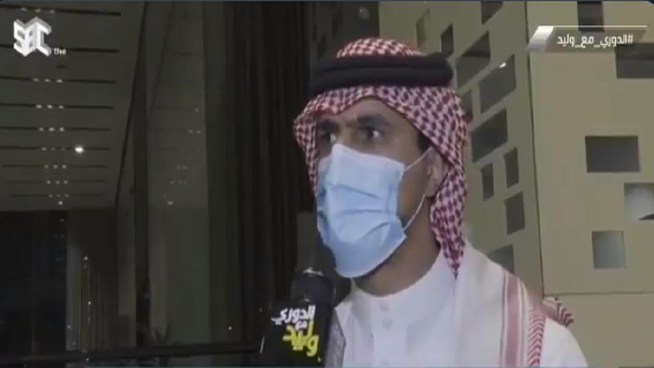 """فهد المفرج: """" رجعنا بلدنا رافعين رؤوسنا وما أصابنا أمر الله """""""