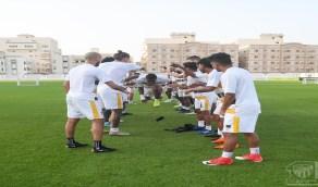 بالصور.. عبدالرحمن اليامي يشارك في تدريبات الاتحاد