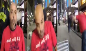 """شاهد.. ضرب الإخواني المصري الهارب بهجت صابر على """"القفا"""" في بث مباشر"""