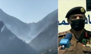 بالفيديو.. الفريق «العمرو»: سيطرنا على 95 % من حريق جبل عمد واليوم نقضي عليه تماماً