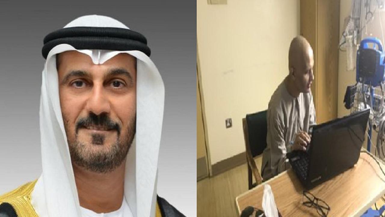 رسالة مؤثرة من وزير التعليم الإماراتي للمعلم المصاب بالسرطان في الرياض
