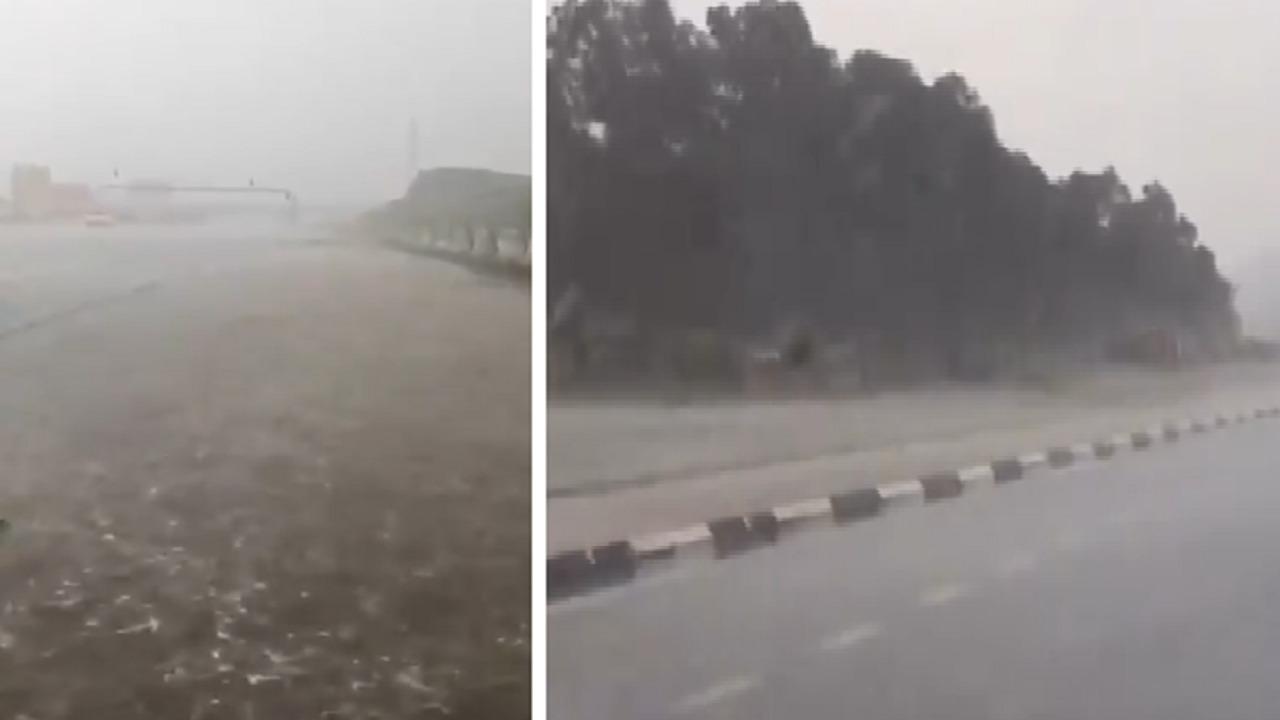 بالفيديو .. أمطار غزيرة وسيول على مشعر عرفات ومكة المكرمة
