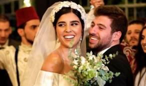بالفيديو.. «زينة مكي» تحتفل بزفافها على «نبيل خوري» بفستان يثير الجدل