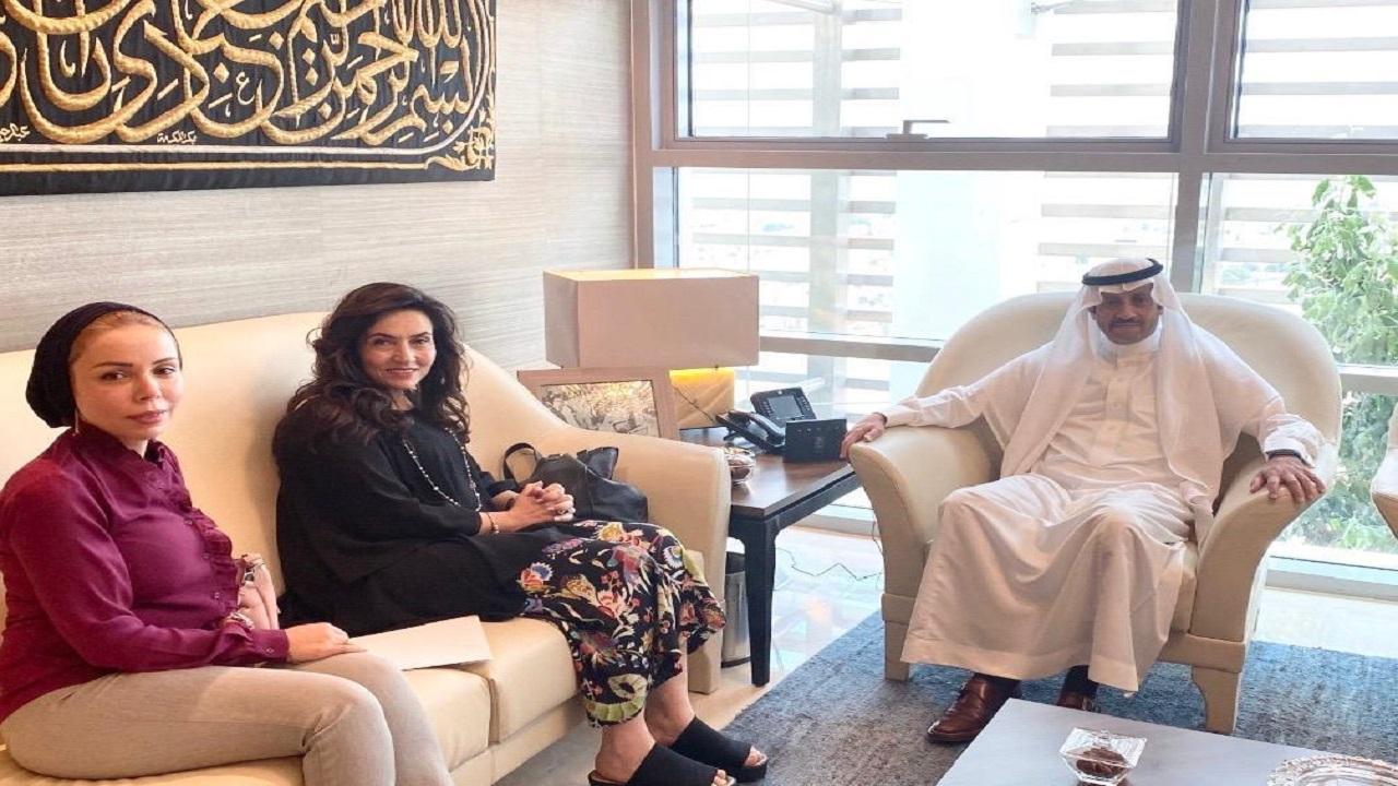 سفير المملكة لدى الأردن يلتقي مديرة مؤسسة الأميرة تغريد للتنمية والتدريب