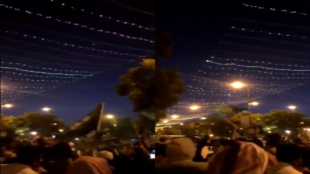 بالفيديو..مواطنون يضربون بالإجراءات الاحترازية عرض الحائط في اليوم الوطني