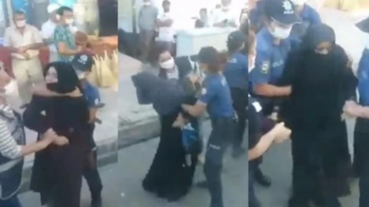 بالفيديو..شرطة أردوغان تمارس العنف على نساء محجبات معارضات للنظام