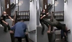 بالفيديو.. لحظة هروب متهم أثناء محاكمته ورد فعل خطير من شرطى يطارده