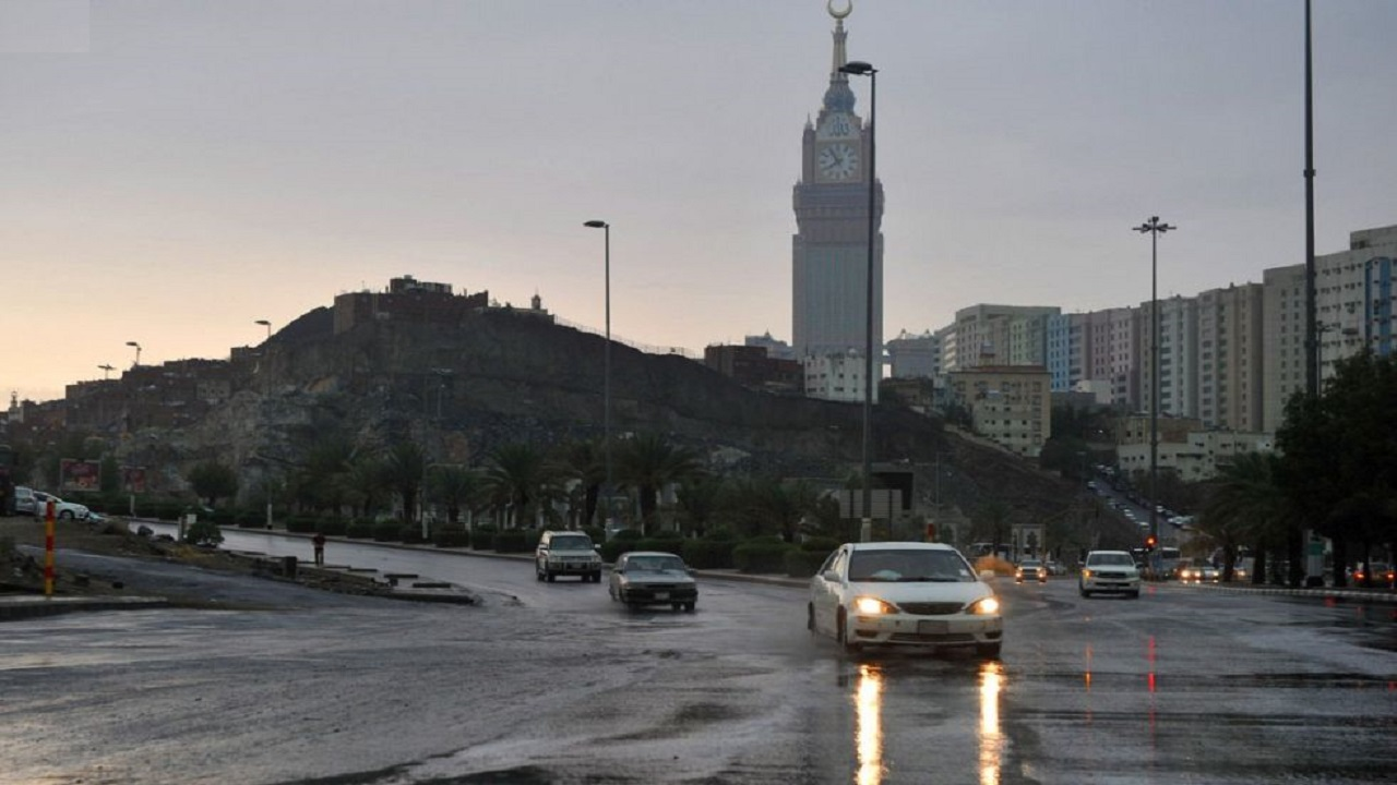 توقعات بهطول أمطار رعدية على عدد من محافظات منطقة مكة