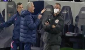 """شاهد.. مشاجرة لفظية بينمورينيو ولامبارد خلال مباراة توتنهام وتشيلسي:"""" اللعنة يا فرانك """""""