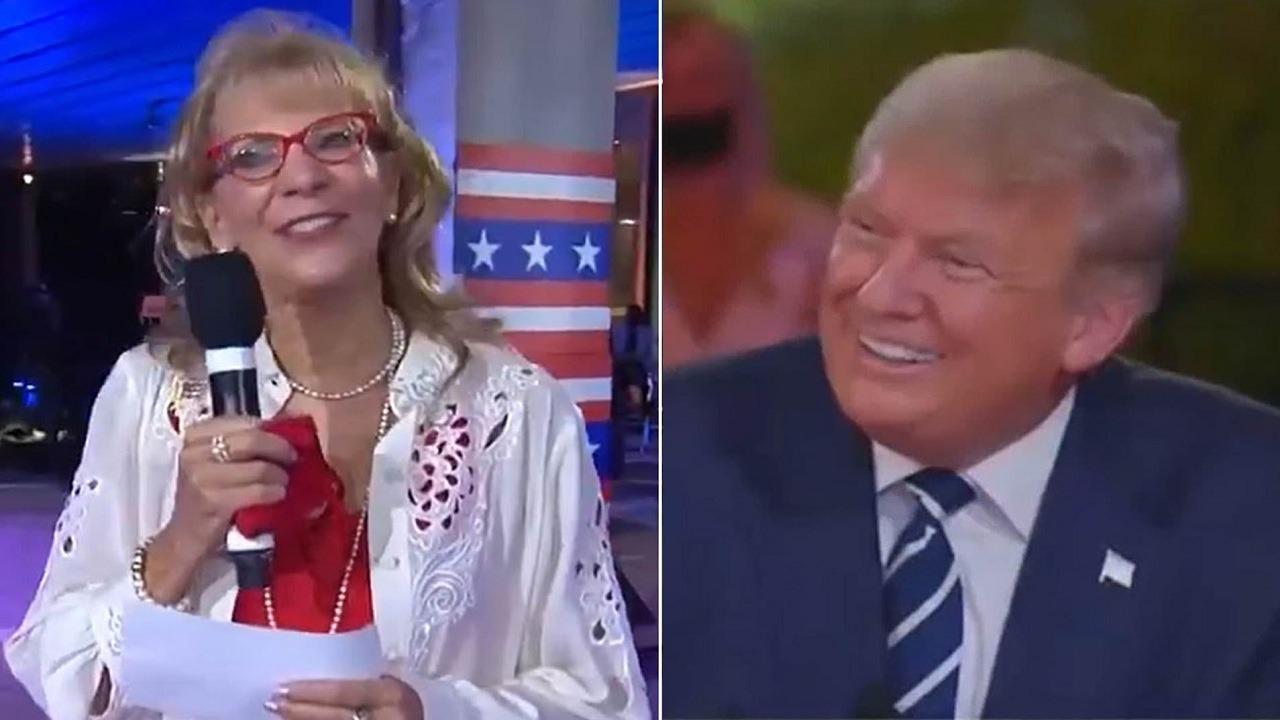 بالفيديو.. ترامب يحمر خجلًا على الهواء مباشرة