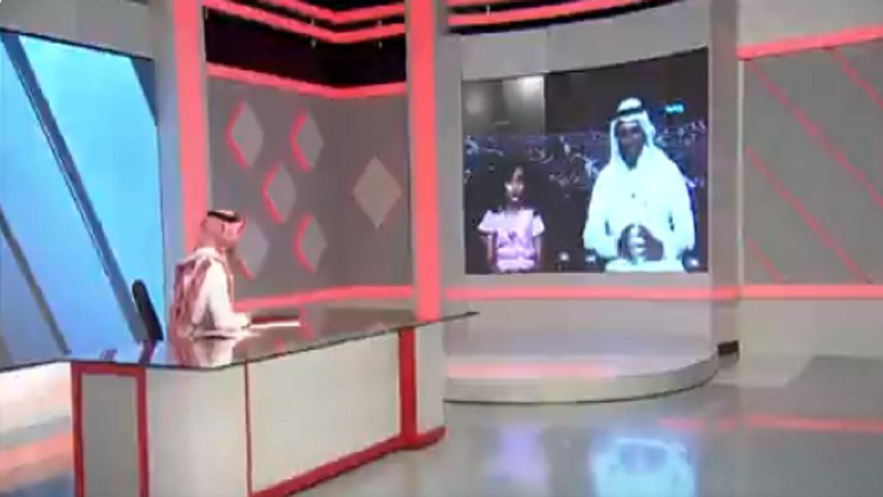 """بالفيديو.. طفلة تنقذ والدها بذكاء في حائل وتفاجيء مذيع """"الراصد"""""""