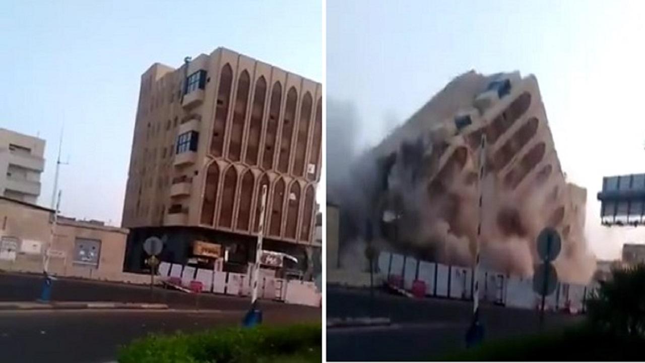 بالفيديو .. لحظة إزالة مبنى بالمدينة المنورة استعداداً لمشروع ميدان الملك عبد العزيز