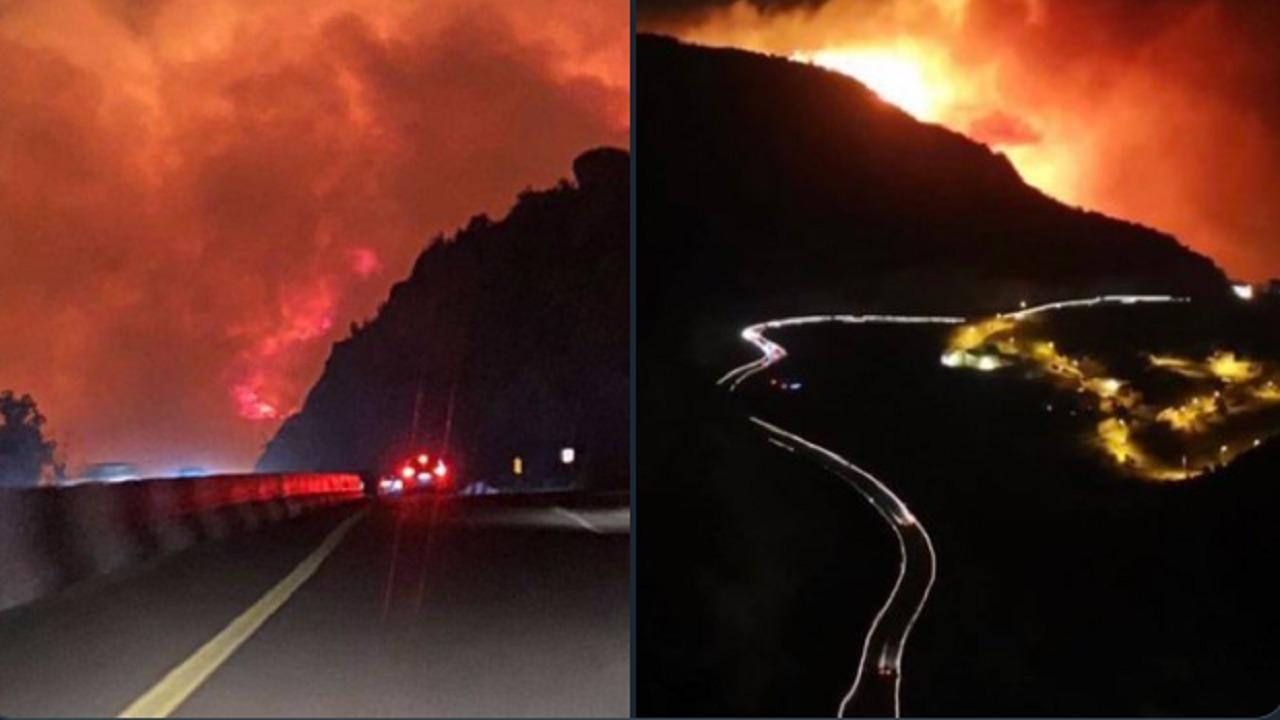 تفاصيل وتطورات حريق جبل غلامة