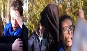 بالفيديو..لحظة صفع امرأة حاملة صورة مسيئة للرسول ﷺ بلندن