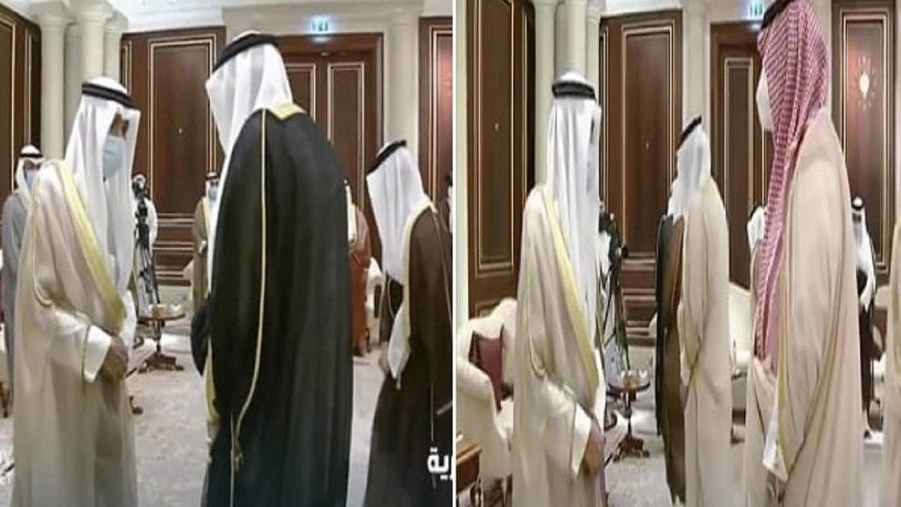 بالفيديو.. الأمير منصور بن متعب ينقل تعازي القيادة لأمير الكويت