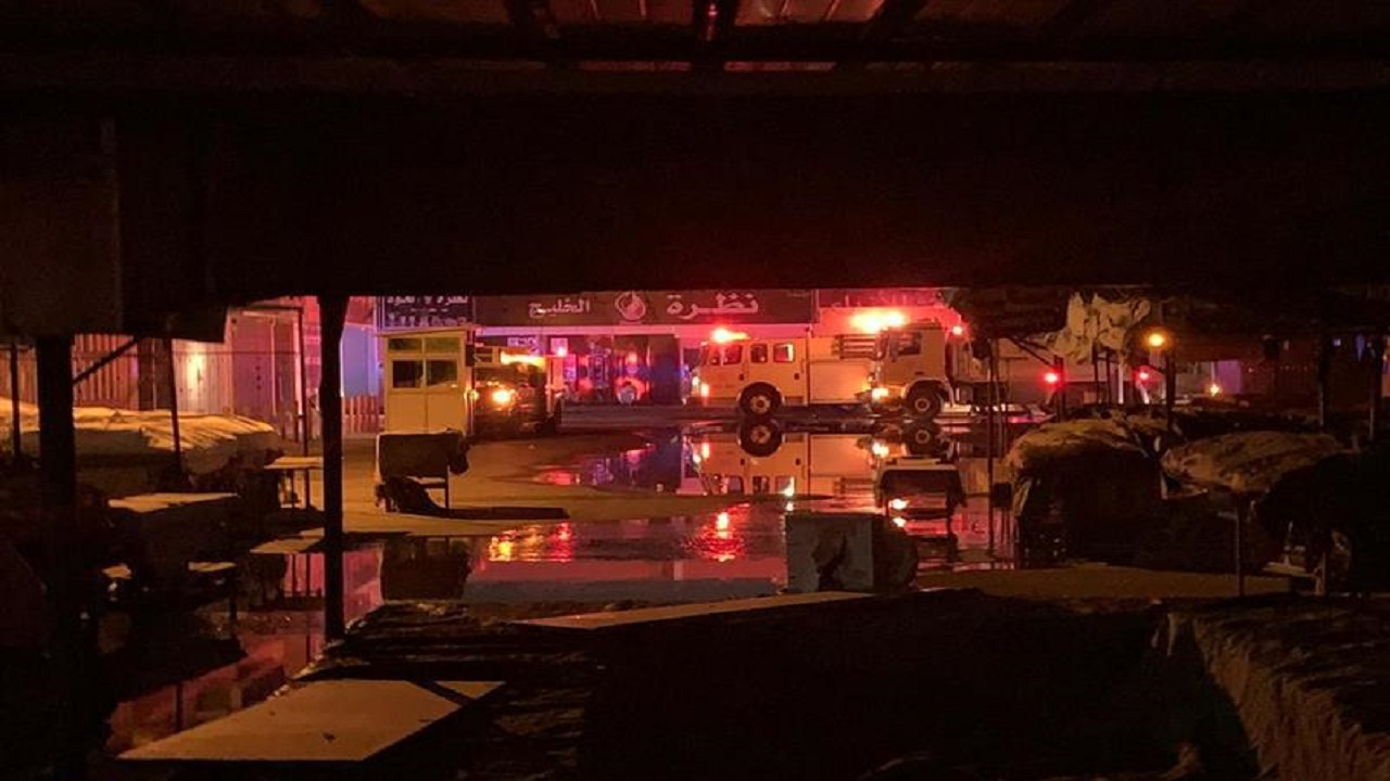 التحقيقات الأولية: ماس كهربائي سبب حريق الدمام
