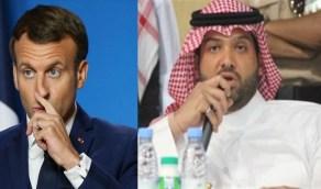 الأمير سطام بن خالد يفحم ماكرون