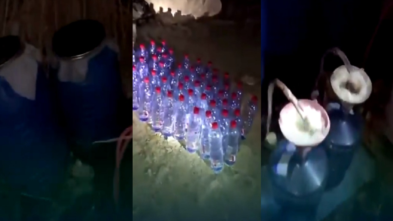 بالفيديو.. سيارة مشبوهة تقود للكشف عن وكر لتصنيع الخمور وضبط وافد بالرياض