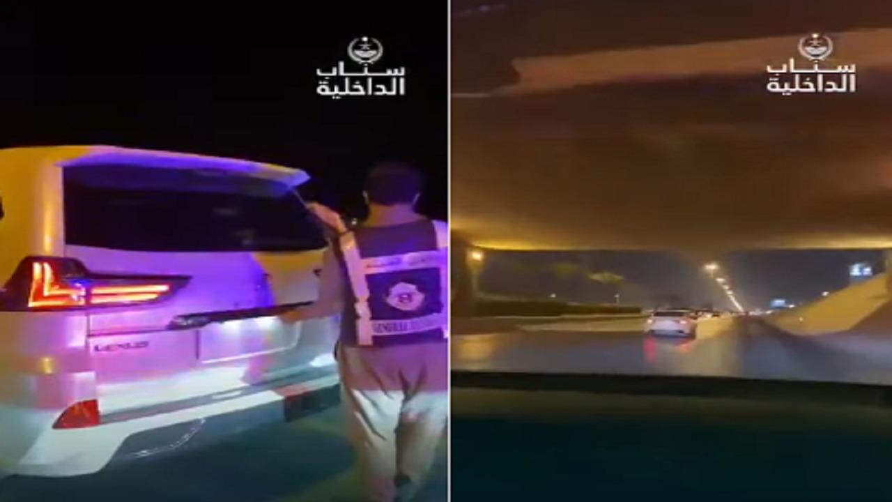بالفيديو .. ضبط سيارات تسير بسرعة جنونية وأخرى بدون لوحات في الرياض