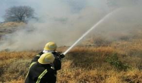 إخماد حريقان نشبا في جبلين بفيفاء