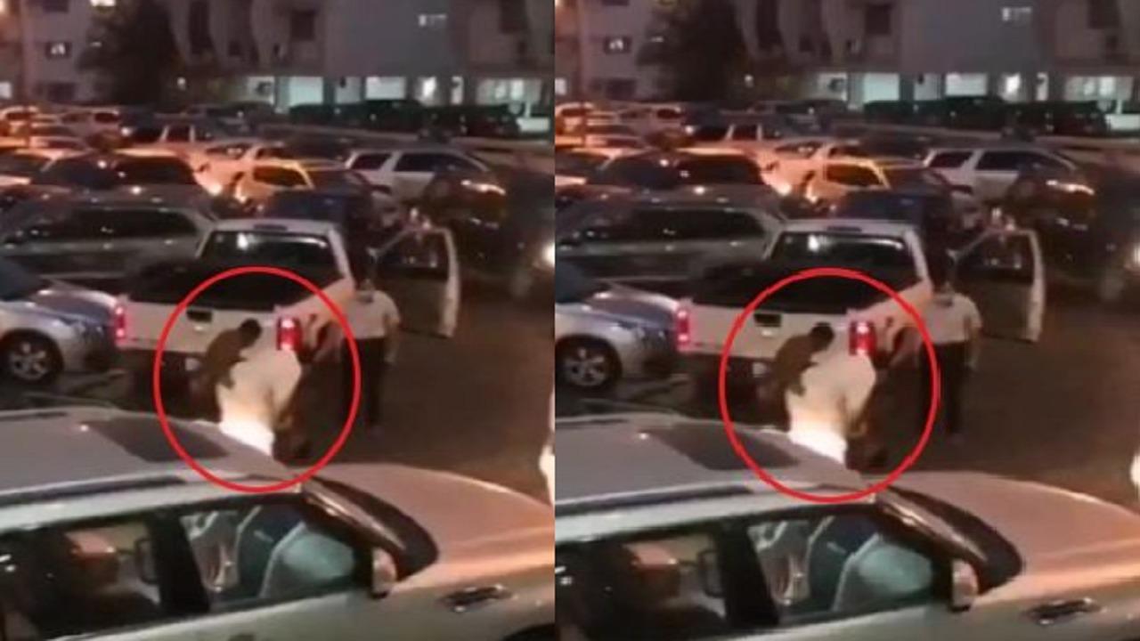بالفيديو..مشاجرة عنيفة بين شخصين في موقف سيارات
