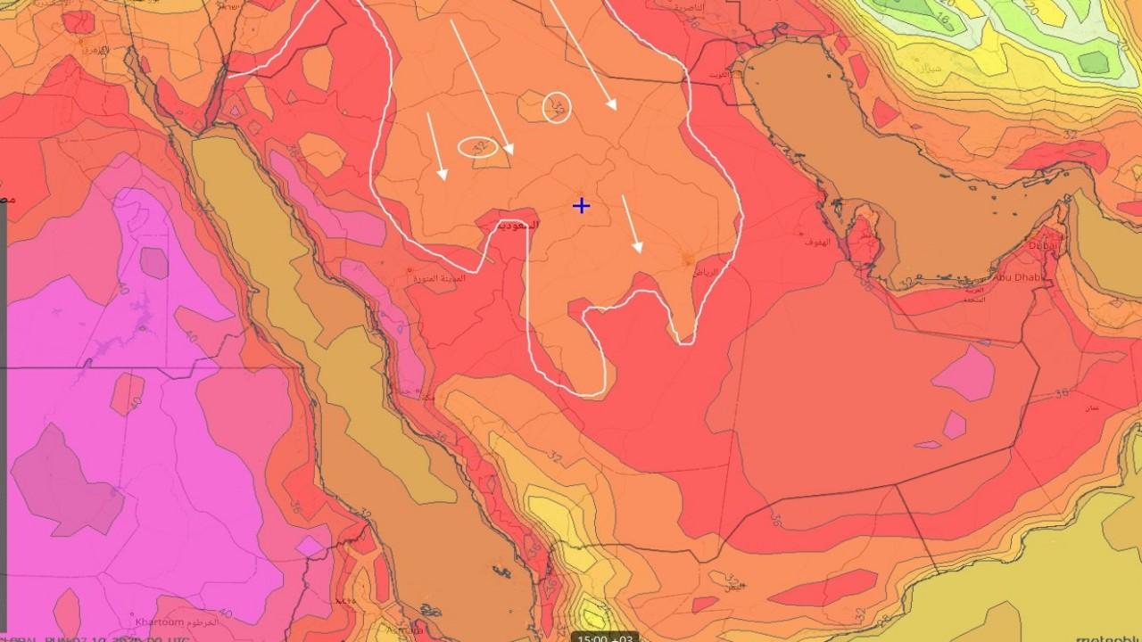 بالصور.. المسند يتوقع انخفاض درجات الحرارة على معظم مناطق المملكة من السبت القادم
