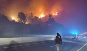 إجراء عاجل من إمارة عسير بخصوص حريق جبل غلامة