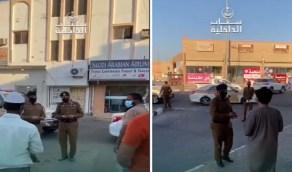 بالفيديو.. ضبط مخالفين للاجراءات الاحترازية في الرس