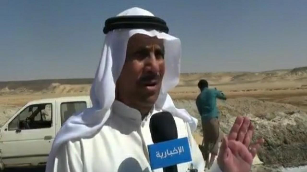 بالفيديو.. مواطن من القريات يتحدث عن طريقة استخراج الملح