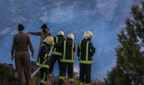 خطة لإخلاء القرى وتجهيز دور إيواء لمواجهة حريق تنومة